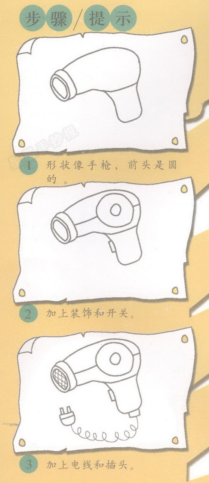 吹风机简笔画