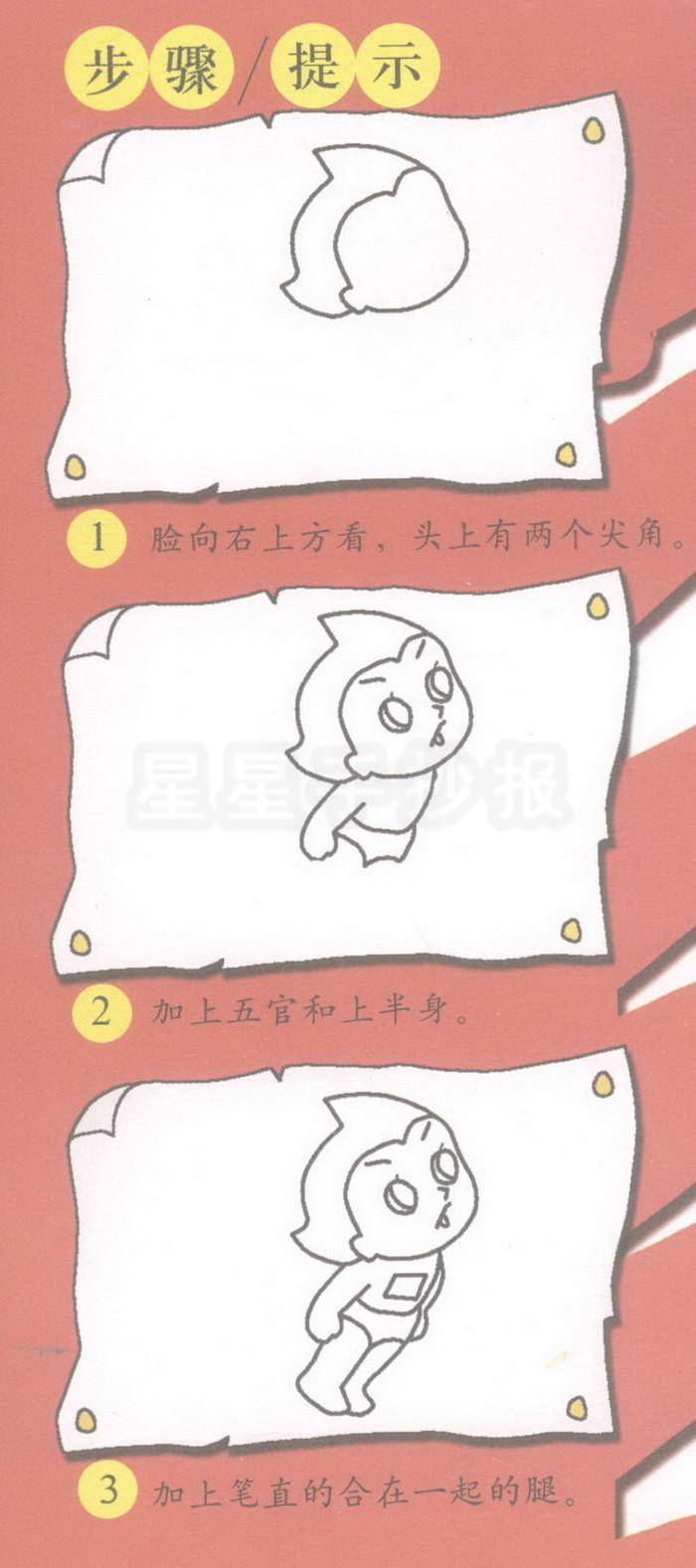 阿童木简笔画