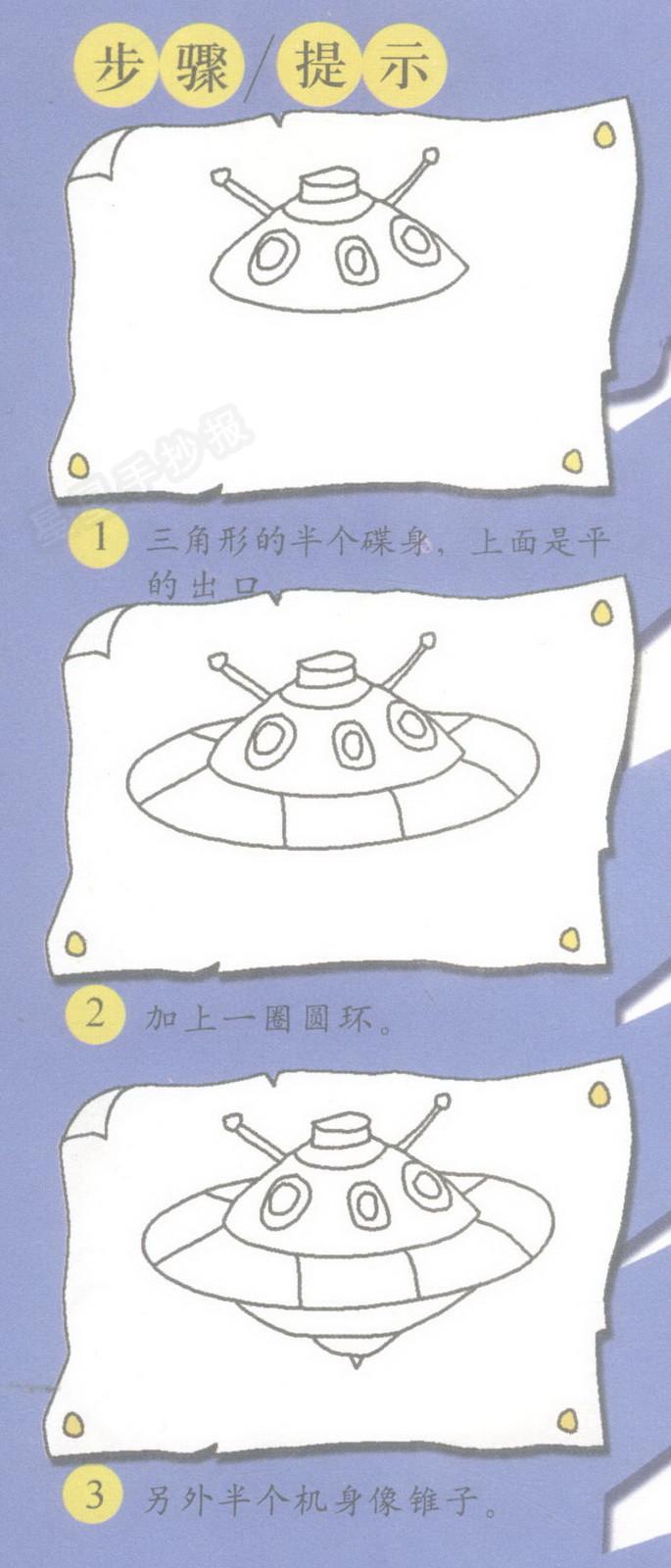 飞碟简笔画