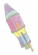 运载火箭简笔画怎么画