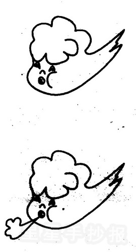 关于风的简笔画图片