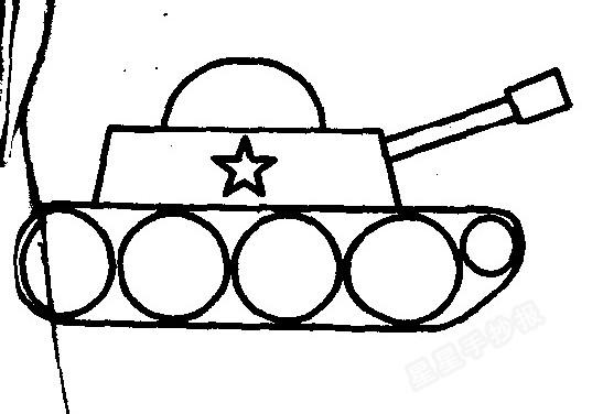 坦克简笔画简单画法