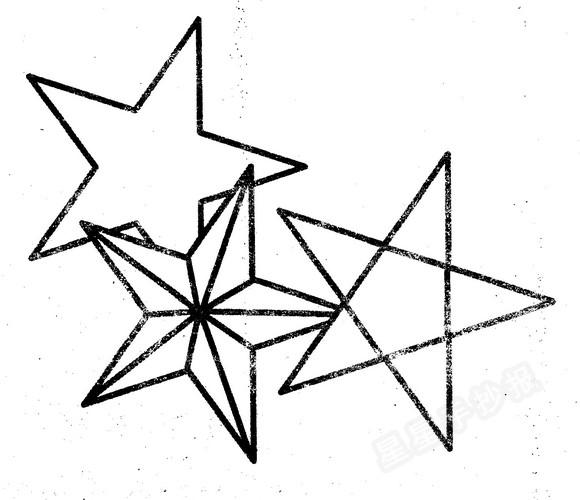 五角星简笔画