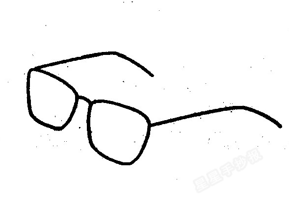 眼镜简笔画图片教程图片