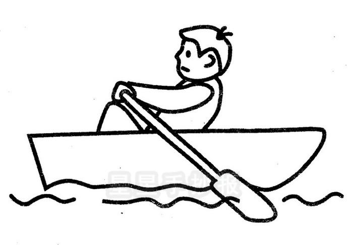 划船运动简笔画