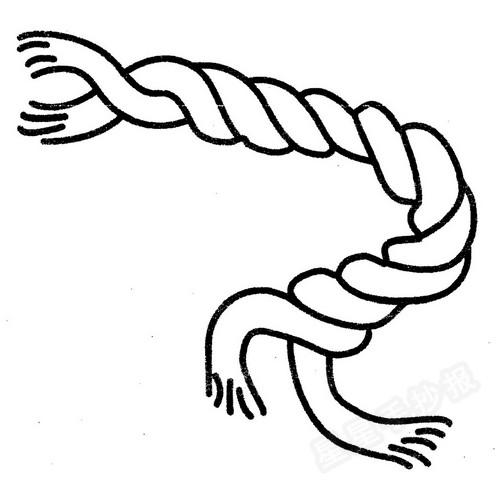 绳子简笔画图片
