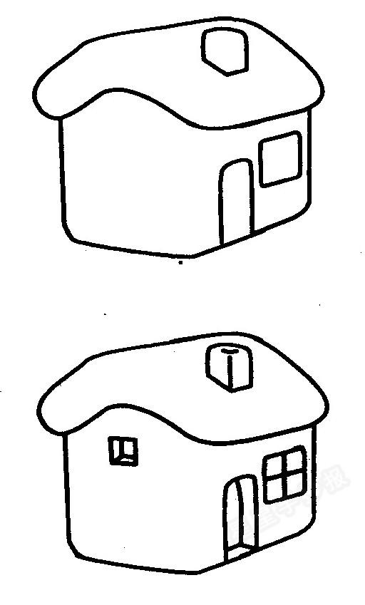 小房子简笔画怎么画