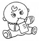 宝宝喝牛奶简笔画