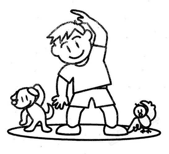 锻炼身体简笔画