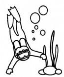 潜水员简笔画