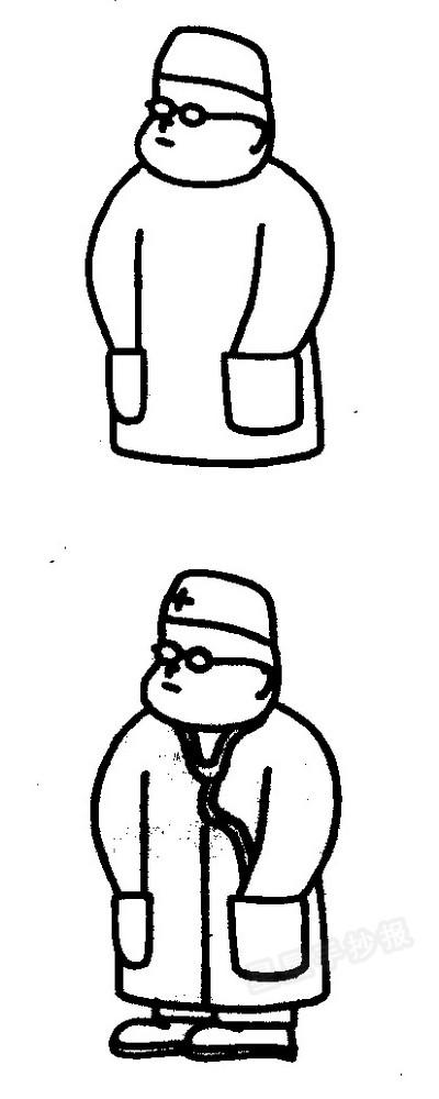 医生简笔画图片