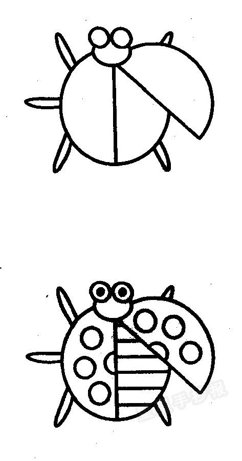 七星瓢虫简笔画怎么画