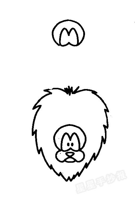 狮子简笔画怎么画