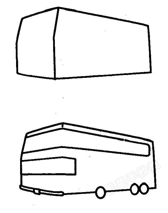 大巴车简笔画