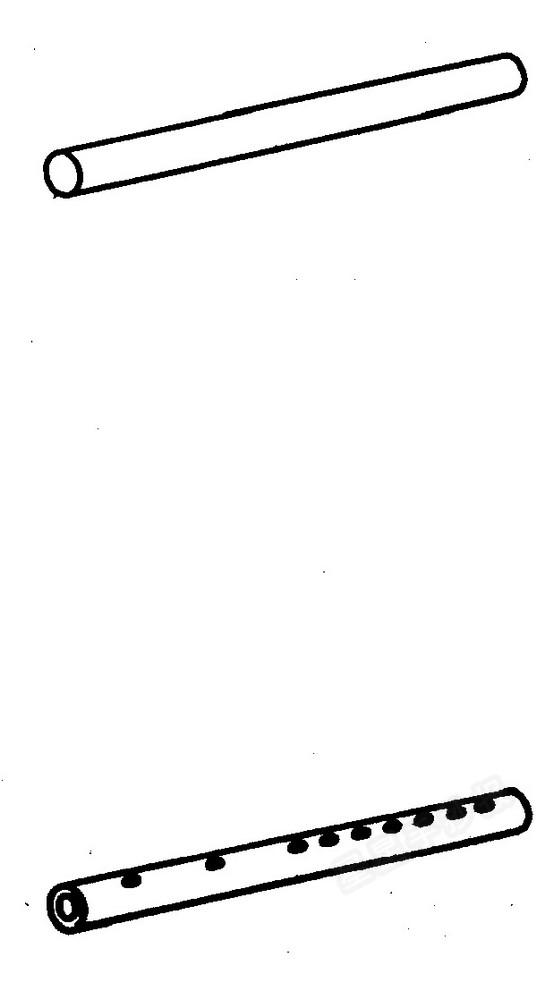 笛子简笔画图片