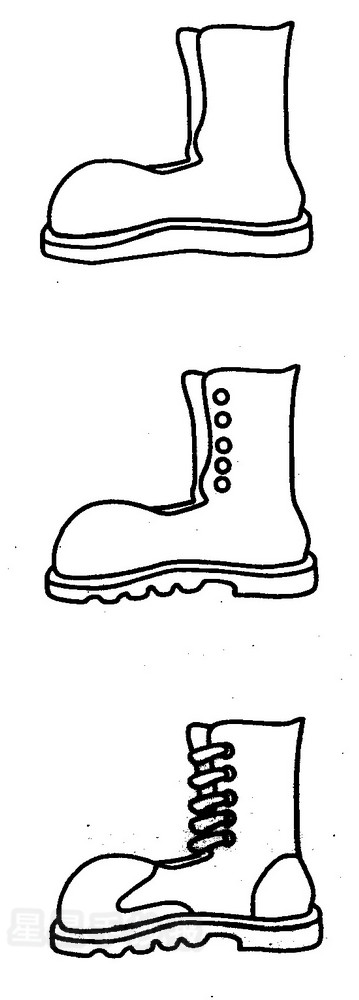 皮靴简笔画图片