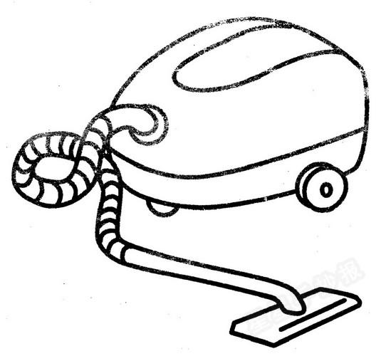 吸尘器简笔画图片教程:吸尘器打扫房间又快又干净