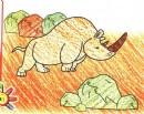 双角犀牛简笔画
