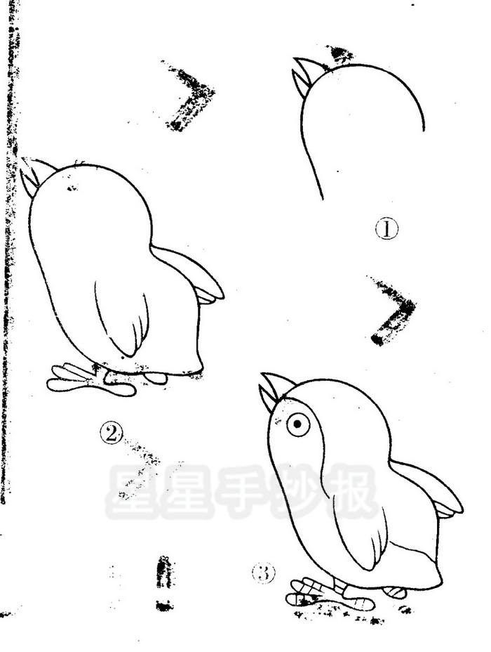 小鸡简笔画简单画法