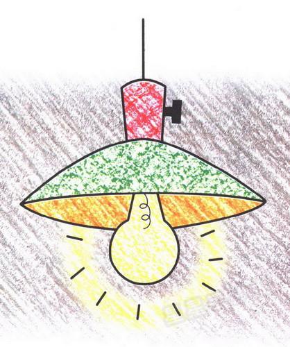 电灯简笔画图片