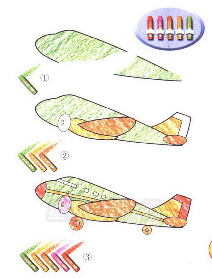 飞机简笔画图片