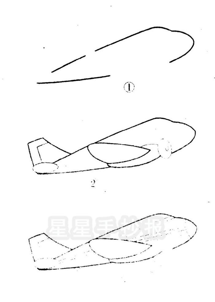 飞机简笔画怎么画
