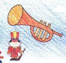 小号铜管乐器简笔画