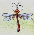 蜻蜓简笔画图片画法