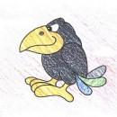 小乌鸦简笔画