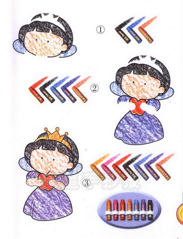 白雪公主简笔画图片