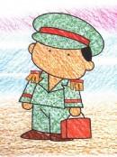 乘务员简笔画