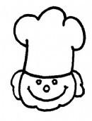 厨师头像简笔画怎么画