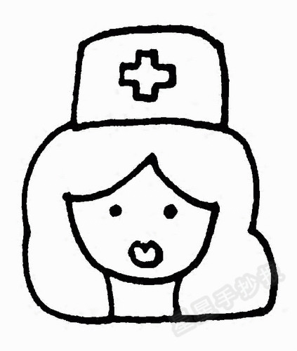 护士头像简笔画