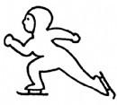 滑冰简笔画