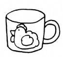 杯子简笔画图片步骤教程