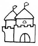 城堡简笔画怎么画