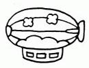 飞艇简笔画简单画法
