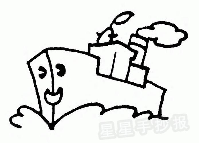 轮船简笔画怎么画
