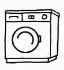 滚筒洗衣机简笔画