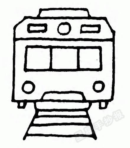 有轨电车简笔画