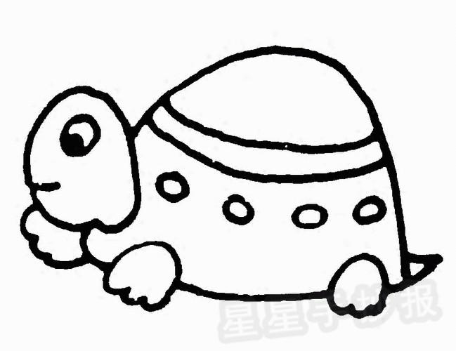 小乌龟简笔画图片