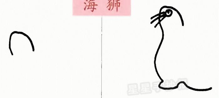 海狮简笔画简单画法