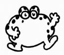 牛蛙简笔画
