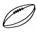 橄榄球简笔画简单画法