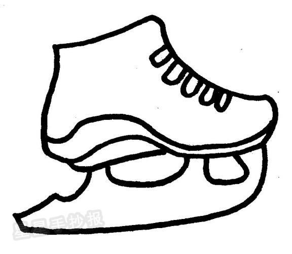 滑冰刀鞋简笔画图片
