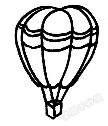 热气球简笔画怎么画