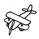 双翼老式飞机简笔画