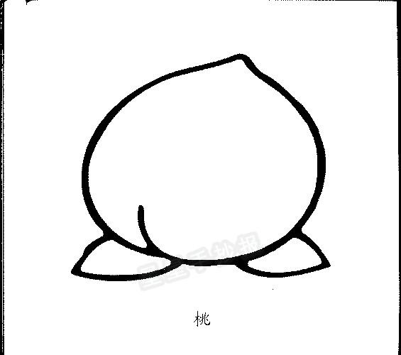 桃子简笔画简单画法