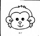 小猴子头像简笔画