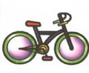 变速自行车简笔画